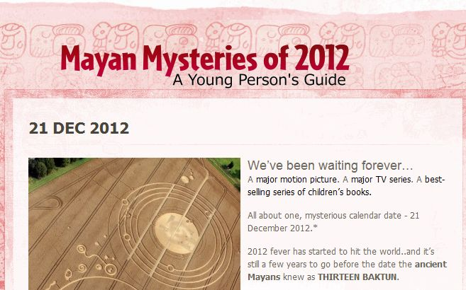Mayan mysteries of 2012 - a young person's guide